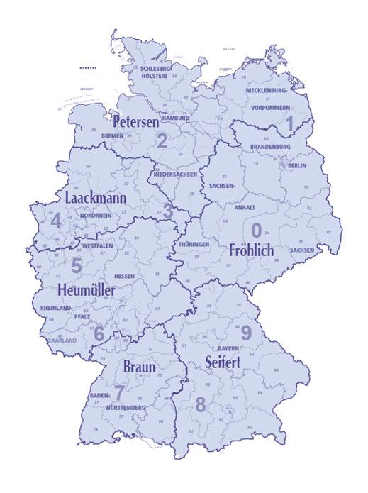 Vertreterkarte Deutschland