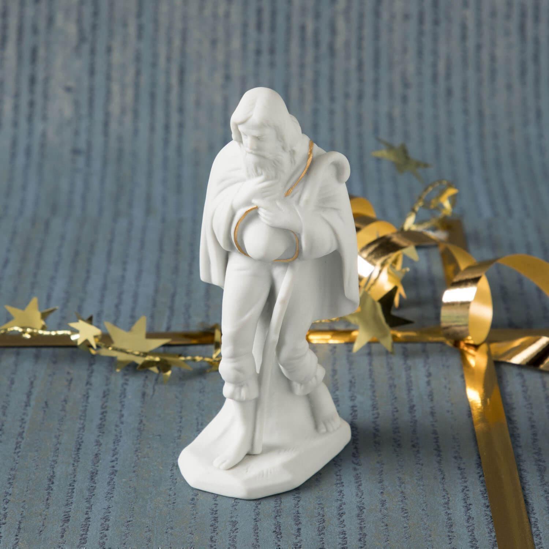 Krippenfigur, Schäfer, stehend