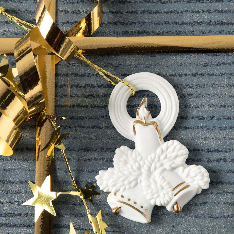 Weihnachtsanhänger, Glocken, Kerze