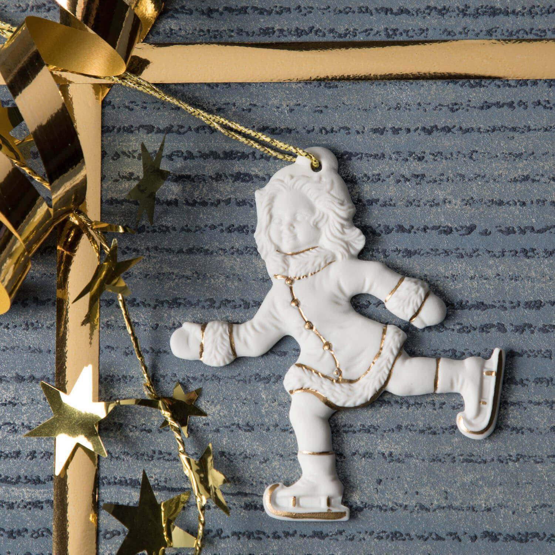 Weihnachtsanhänger, Schlittschuhläuferin