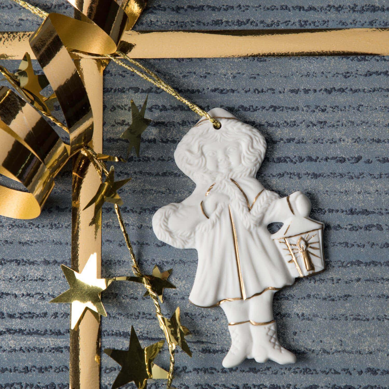 Weihnachtsanhänger, Mädchen, Laterne