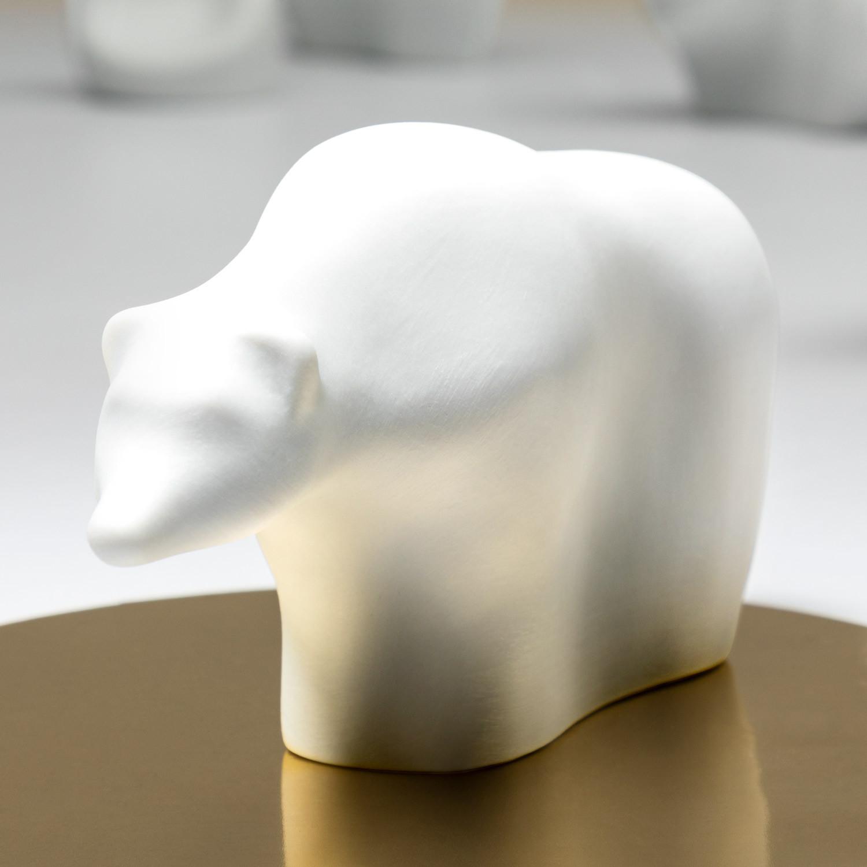 Porzellanfigur Eisbär aus Bisquitporzellan
