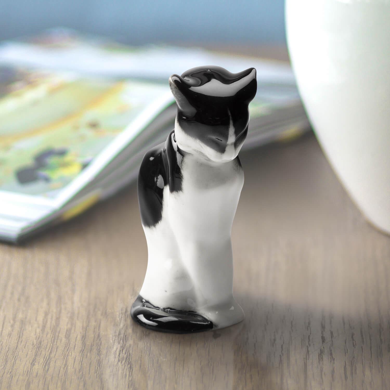 """Porzellanfigur """"Katze"""""""