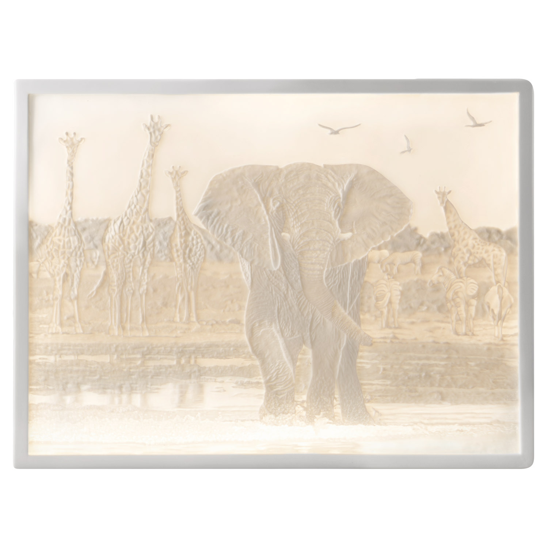 Lithophanie-Platte Elefant - Afrika