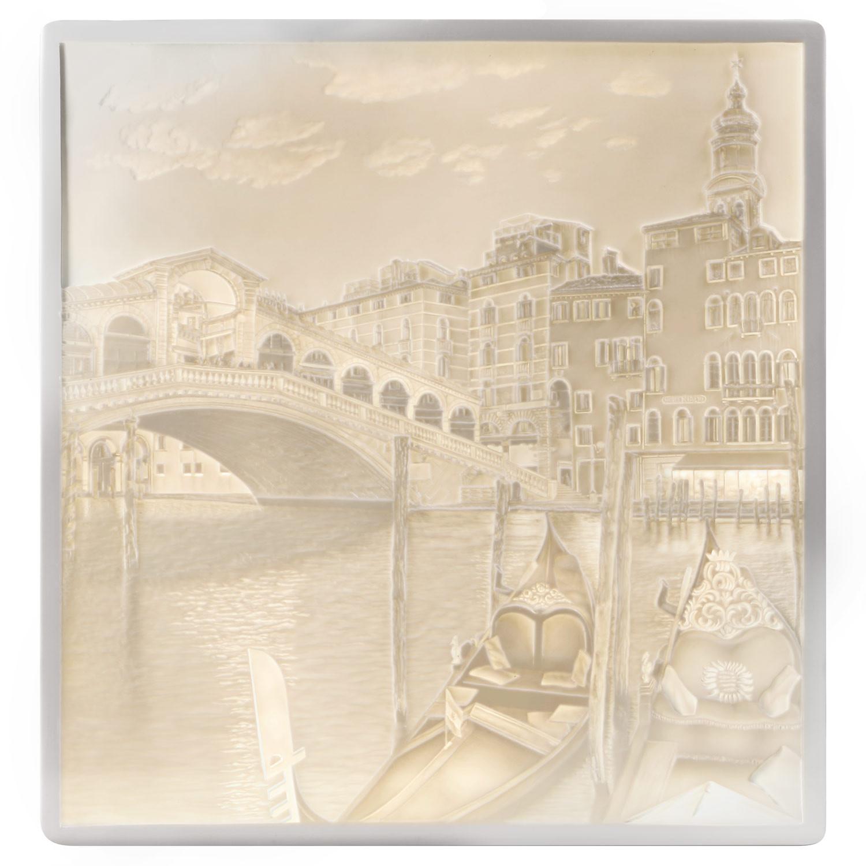 Lithophanie-Platte Venedig, Rialtobrücke