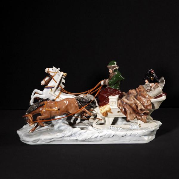 """Porzellankutsche """"Napoleons Flucht"""""""