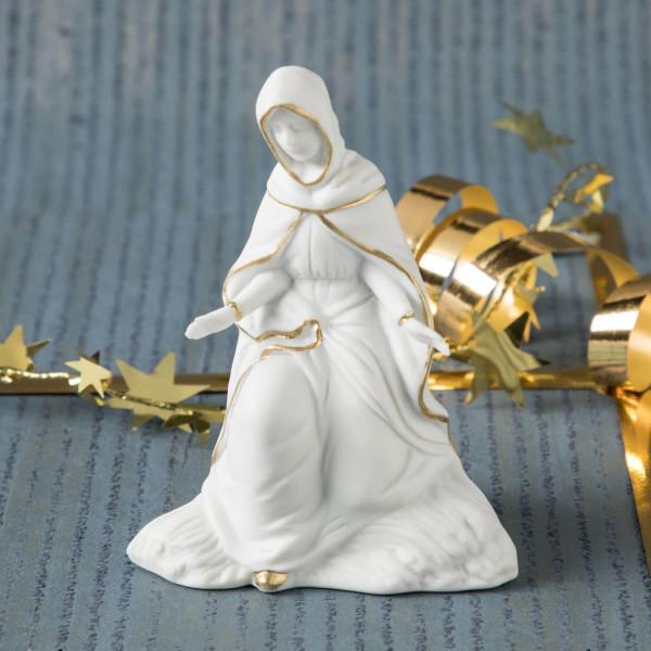 """Krippenfigur """"Maria"""" aus Bisquitporzellan"""