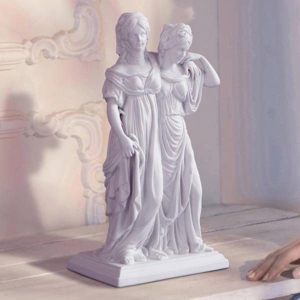 """Figurengruppe """"Prinzessinnengruppe"""" aus Bisquitporzellan"""
