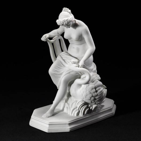 """Porzellanfigur """"Leda und der Schwan"""" aus Bisquitporzellan"""