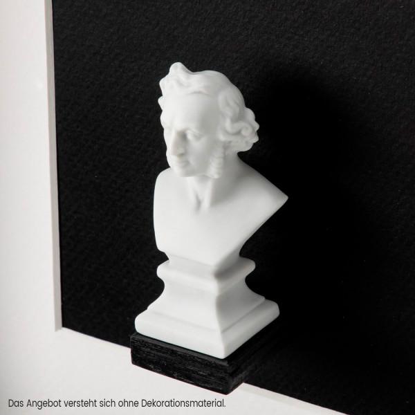 "Büste ""Felix Mendelssohn Bartholdy"" aus Bisquitporzellan"