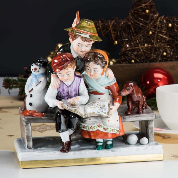"""Porzellan-Figurengruppe """"Wintermärchen"""""""