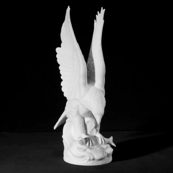 """Porzellanfigur """"Fischadler"""" - Tierfigur aus Bisquitporzellan"""