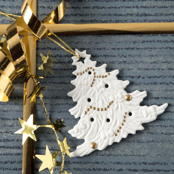 """Porzellan Weihnachtsanhänger """"Christbaum"""""""