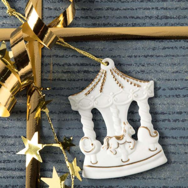 """Porzellan Weihnachtsanhänger """"Karussell"""""""