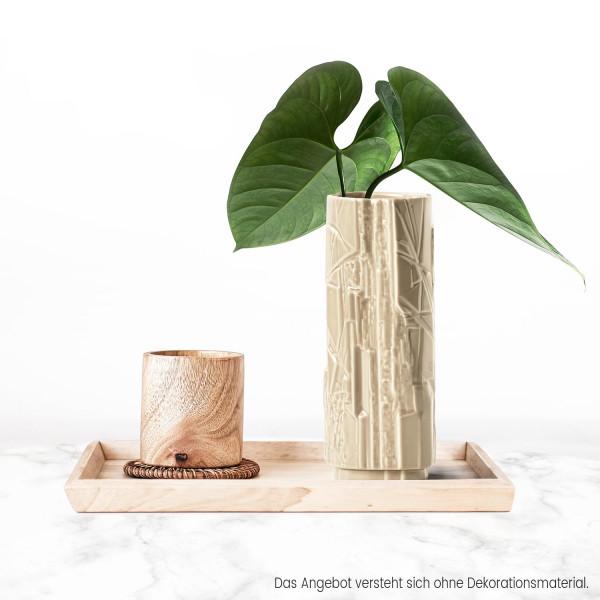 Porzellanvase Struktur Sandbeige 18cm