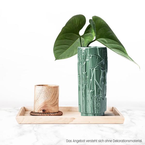 Porzellanvase Struktur Salbeigrün 18cm