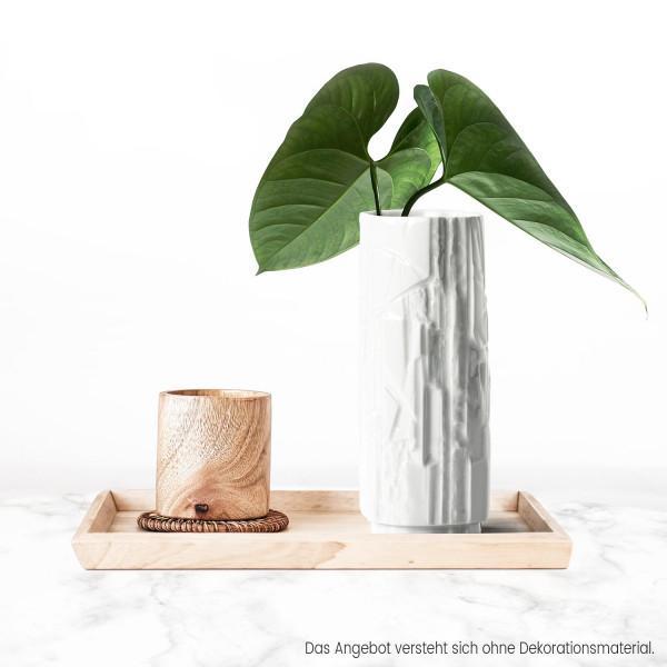 Porzellanvase Struktur Weiß 18cm