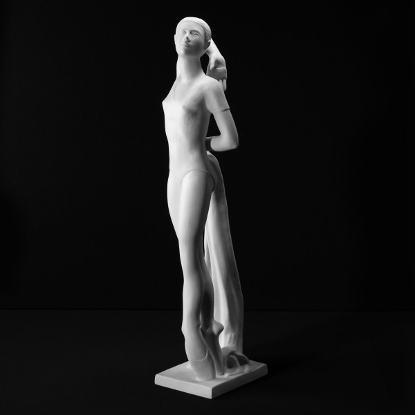 """Porzellanfigur """"Anmut"""" von Walter A. Kirchner aus feinem Bisquitporzellan"""