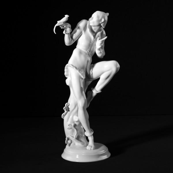 """Porzellanfigur """"Tänzer mit Papagei"""""""