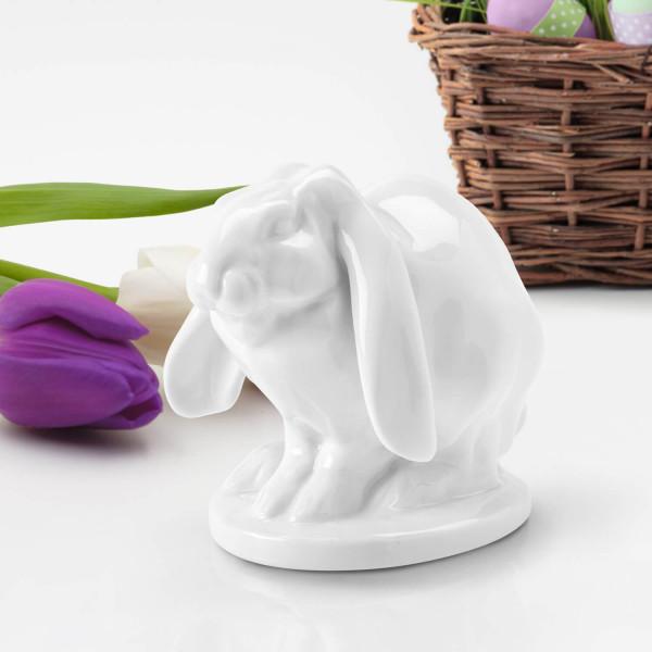 """Porzellanfigur """"Sitzendes Kaninchen"""""""