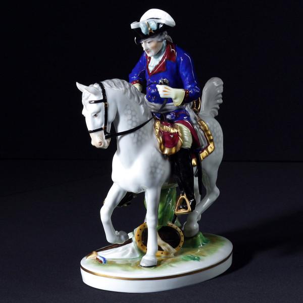 """Porzellanfigur """"Friedrich der Große zu Pferd"""""""