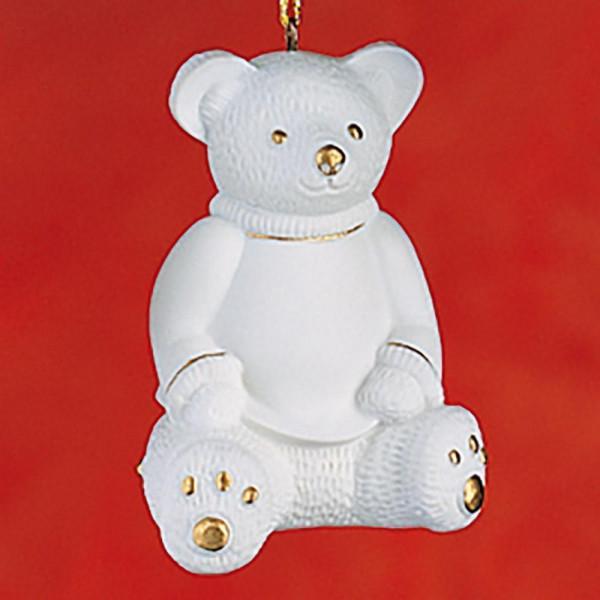 """Porzellan Weihnachtsanhänger """"Bär"""""""