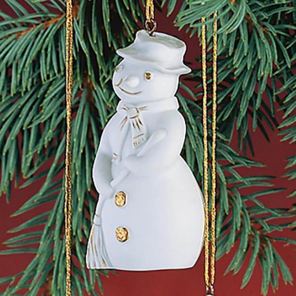 """Porzellan Weihnachtsanhänger """"Schneemann"""""""