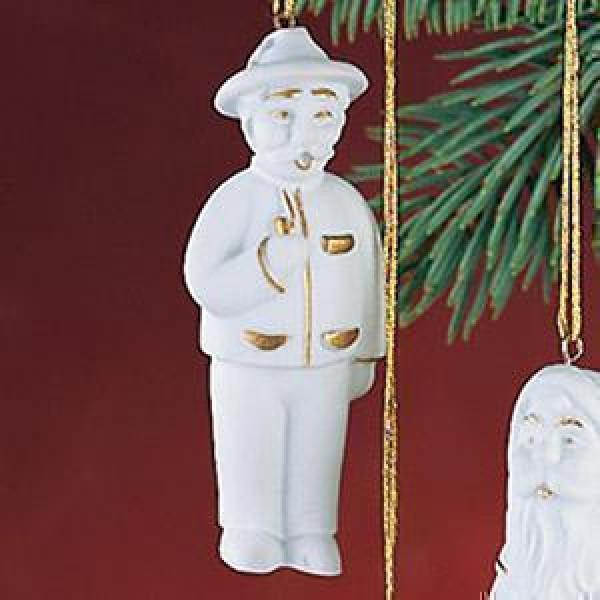 """Porzellan Weihnachtsanhänger """"Räuchermännchen"""""""