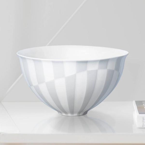 """Schale """"Lichtgrau"""" aus teilweise glasiertem Porzellan"""