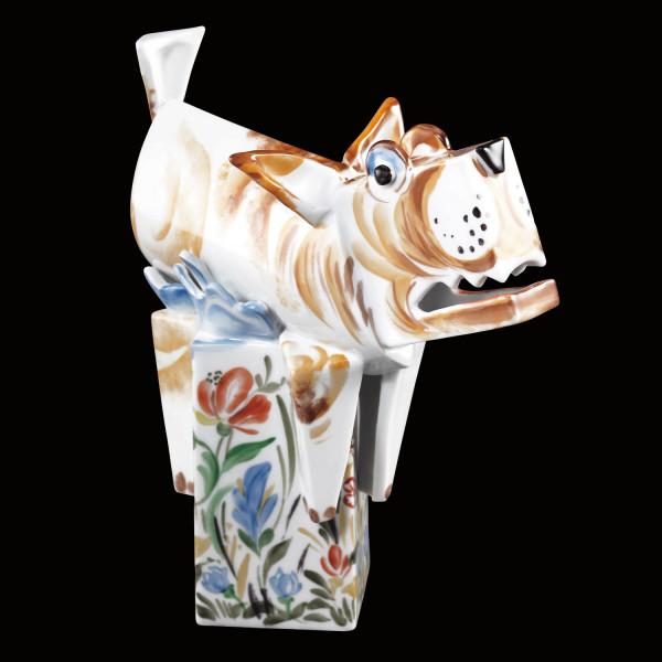 """Porzellanfigur """"Mein Garten"""" von Peter Strang - Skulptur aus glasiertem Porzellan"""