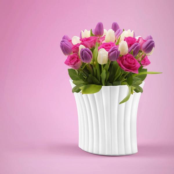 Porzellan Fächervase von Bärbel Thoelke
