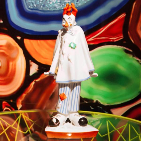 """Porzellanfigur """"Clown mit Mäusen"""" von Kati Zorn aus glasiertem Porzellan"""