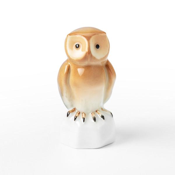 """Porzellanfigur """"Eule"""" von Kati Zorn aus glasiertem Porzellan"""