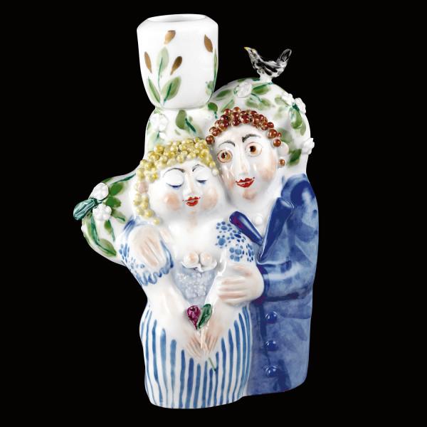 "Porzellanfigur ""Liebespaar II"" aus glasiertem Porzellan, farbig dekoriert"