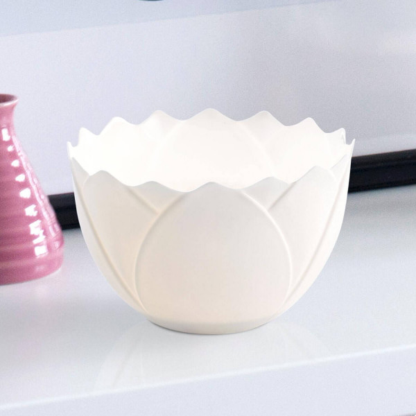 """Windlicht """"Lotusblüte"""" von Bärbel Thoelke aus feinem Bisquitporzellan"""