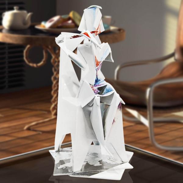 "Porzellanfigur Unikat Plastik ""Mädchen mit Querflöte"""