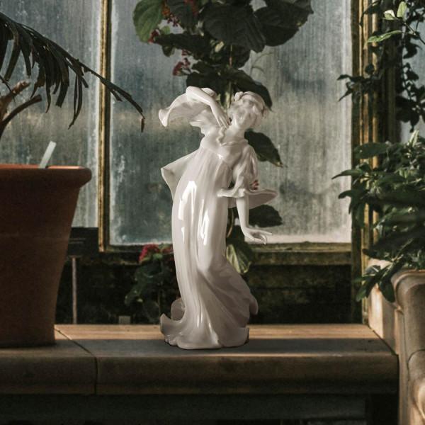 """Porzellanfigur """"Jugendstilfigur"""" aus glasiertem Porzellan"""