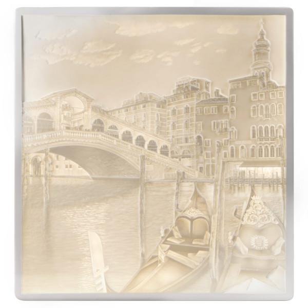 "Porzellan Lithophanie-Platte ""Rialtobrücke"""