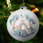 Weihnachtskugel, Kirchgang, Kapelle