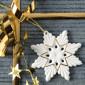 Weihnachtsanhänger, Schneekristall 2BG