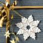 Weihnachtsanhänger, Schneekristall 4BG