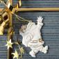 Weihnachtsanhänger, Nikolaus & Geschenk