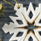 Weihnachtsanhänger, Stern, Schneeflocke
