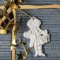 Weihnachtsanhänger, Mädchen mit Laterne