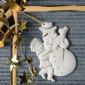 Weihnachtsanhänger, Junge mit Schneemann