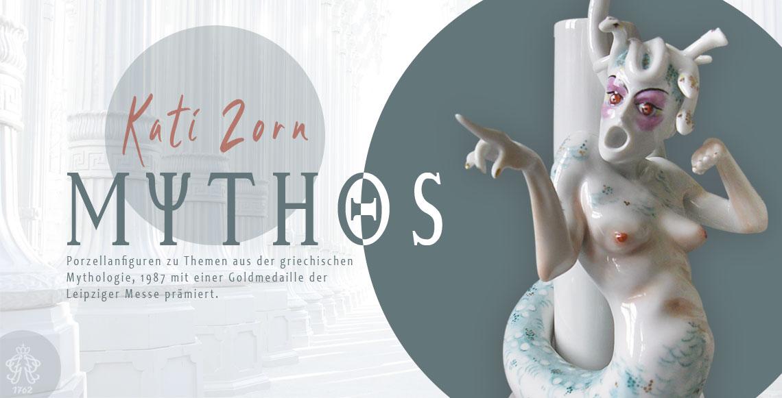 Kati Zorn Mythos - Porzellanfigur Medusa
