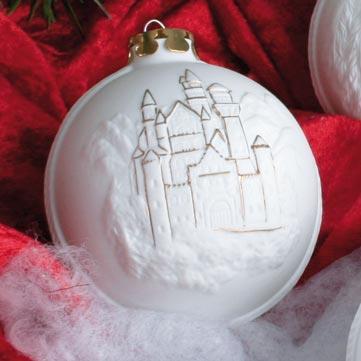 Christbaumkugeln aus Porzellan