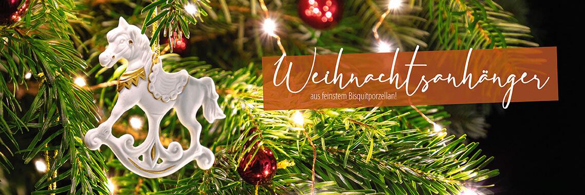 Weihnachtsanhänger aus Biskuitporzellan