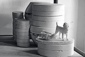Gussformen für die Porzellanfiguren im Formenlager der Manufakturen
