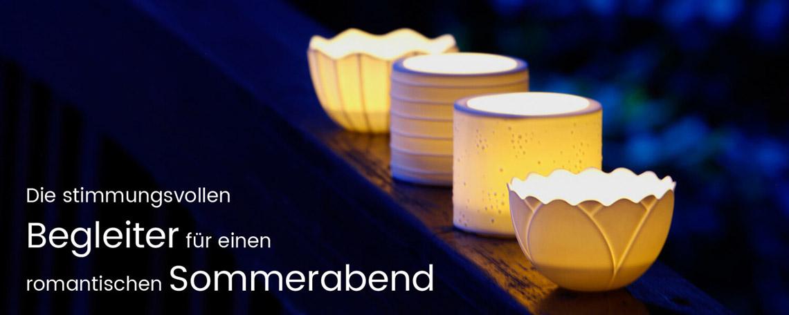 Porzellan Windlichter von Bärbel Thoelke